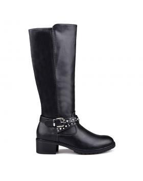 Дамски ежедневни ботуши черни 0131763 в online магазин Fashionzona