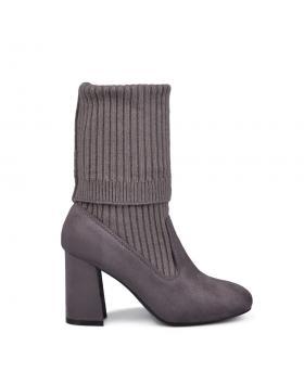 Дамски ежедневни боти сиви 0134022 в online магазин Fashionzona
