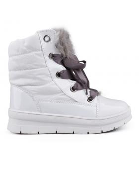 Бели дамски апрески с топъл хастар 0132352 в online магазин Fashionzona