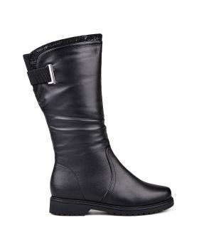 Черни дамски ежедневни ботуши с топъл хастар 0132091 в online магазин Fashionzona