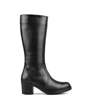 Дамски ежедневни ботуши черни с топъл хастар 0132767 в online магазин Fashionzona