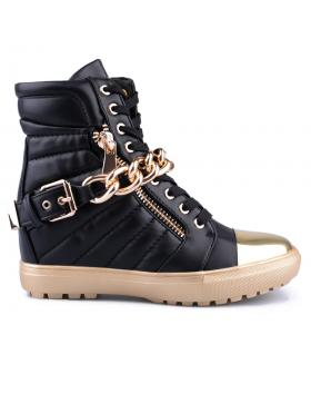дамски ежедневни боти черни 0125576 в online магазин Fashionzona