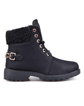Черни дамски ежедневни боти с топъл хастар 0132415 в online магазин Fashionzona