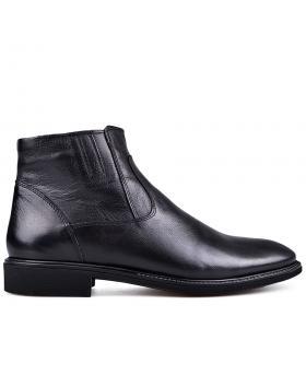 Мъжки елегантни боти с топъл хастар черни 0133622 в online магазин Fashionzona