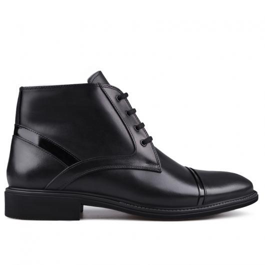Черни мъжки елегантни боти с топъл хастар Gillermo