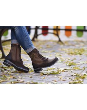 Кафяви дамски ежедневни боти 1650-1 в online магазин Fashionzona
