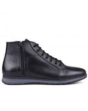 Черни мъжки ежедневни боти с топъл хастар 0133626 в online магазин Fashionzona