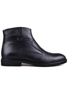 Мъжки елегантни боти с топъл хастар черни 0133627 в online магазин Fashionzona