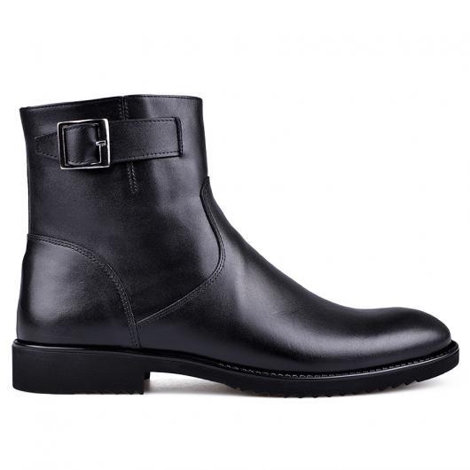 Черни мъжки елегантни боти с топъл хастар Arseinio