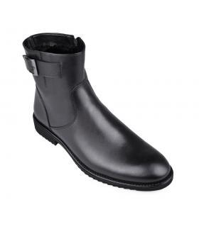 Черни мъжки елегантни боти с топъл хастар Arseinio в online магазин Fashionzona