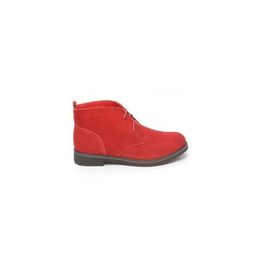 Червени дамски ежедневни обувки Carabell