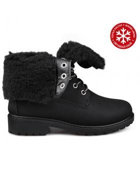 Дамски ежедневни боти черни с топъл хастар 0131500 в online магазин Fashionzona
