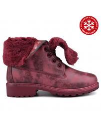 Червени дамски ежедневни боти с топъл хастар 0131504
