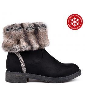 Дамски ежедневни боти черни с топъл хастар 0131859 в online магазин Fashionzona