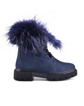 Дамски ежедневни боти сини с топъл хастар 0132794 в online магазин Fashionzona