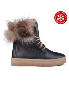 Дамски ежедневни боти черни с топъл хастар 0132787 в online магазин Fashionzona