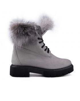 Сиви дамски ежедневни боти с топъл хастар 0132793 в online магазин Fashionzona