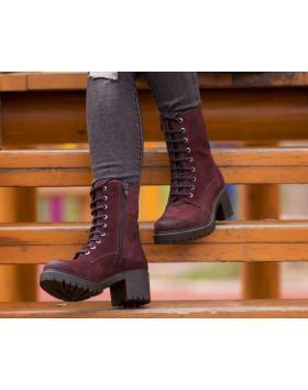 Дамски ежедневни боти червени 0131997 в online магазин Fashionzona