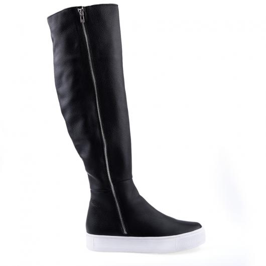 Черни дамски ежедневни ботуши 0126036