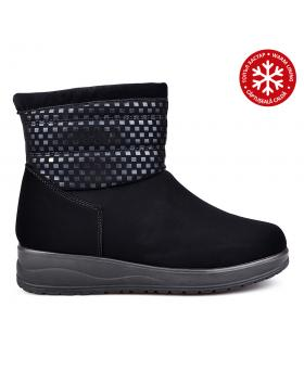 Черни дамски ежедневни боти с топъл хастар 0131822 в online магазин Fashionzona
