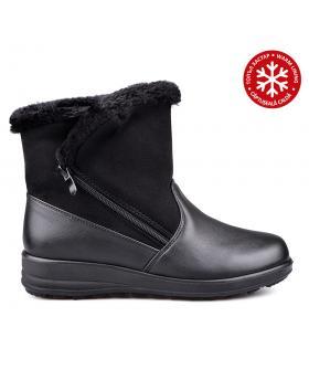 Дамски ежедневни боти черни с топъл хастар 0131820 в online магазин Fashionzona