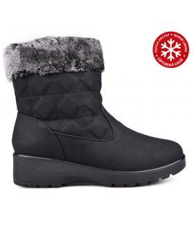 Дамски ежедневни боти черни с топъл хастар 0131831 в online магазин Fashionzona