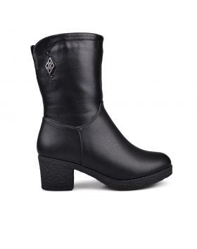 Дамски ежедневни боти черни с топъл хастар 0132096 в online магазин Fashionzona