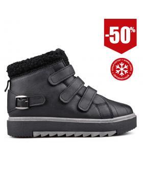 Черни дамски кецове с топъл хастар 0131957 в online магазин Fashionzona