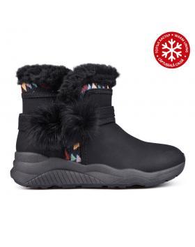 Дамски ежедневни боти черни с топъл хастар 0131906 в online магазин Fashionzona