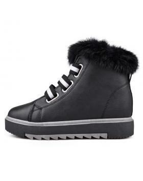 Черни дамски кецове с топъл хастар 0131958 в online магазин Fashionzona