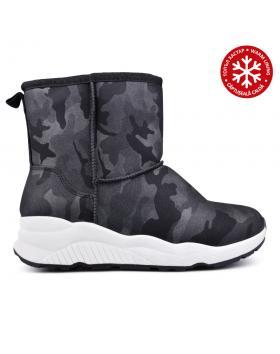 Дамски ежедневни боти черни с топъл хастар 0131908 в online магазин Fashionzona