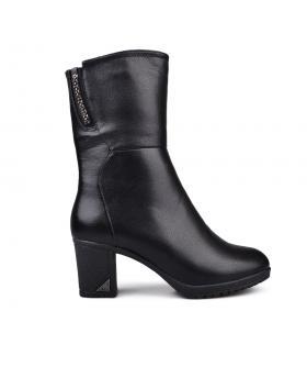 Дамски ежедневни боти черни с топъл хастар 0132097 в online магазин Fashionzona
