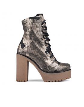 Дамски ежедневни боти златисти 0133524 в online магазин Fashionzona