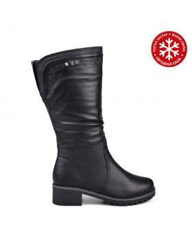 Дамски ежедневни ботуши черни с топъл хастар 0132081 в online магазин Fashionzona