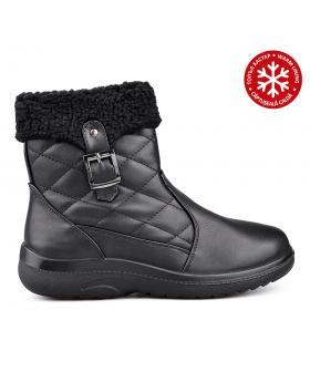 Дамски ежедневни боти черни с топъл хастар 0131805 в online магазин Fashionzona