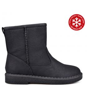 Дамски ежедневни боти черни с топъл хастар 0131821 в online магазин Fashionzona