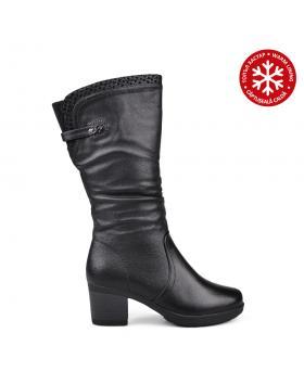 Черни дамски ежедневни ботуши с топъл хастар 0132085 в online магазин Fashionzona