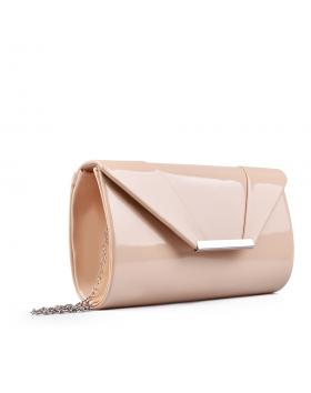 Бежова дамска елегантна чанта 0132993 в online магазин Fashionzona