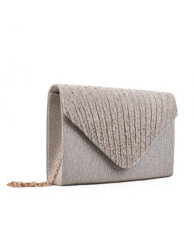 Златиста дамска елегантна чанта 0133019 в online магазин Fashionzona
