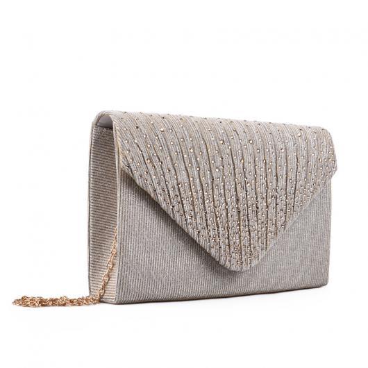 Златиста дамска елегантна чанта Marveille