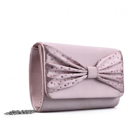 Розова дамска елегантна чанта 0133015