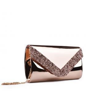 Бежова дамска елегантна чанта 0132999 в online магазин Fashionzona