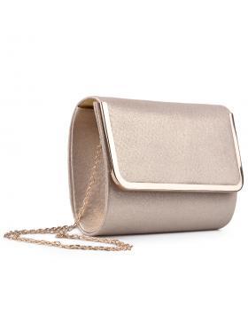 Дамска елегантна чанта златиста 0133021 в online магазин Fashionzona