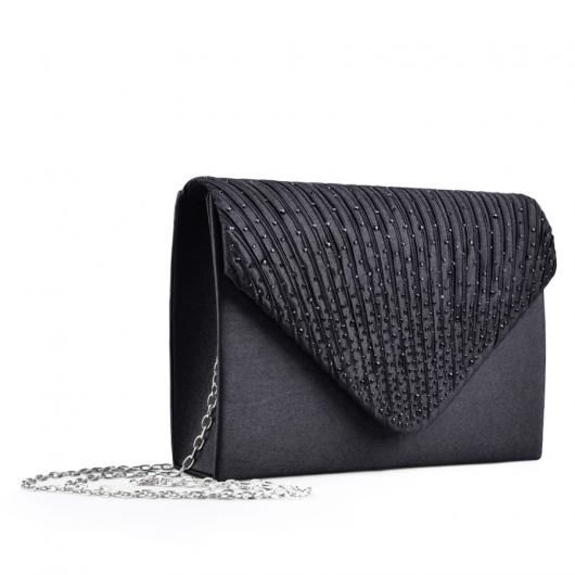 Черна дамска елегантна чанта 0133016