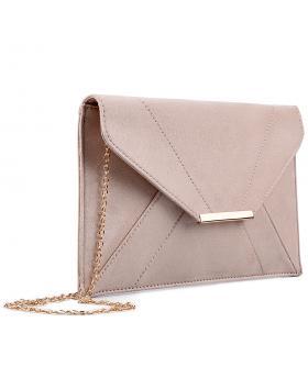 Бежова дамска елегантна чанта 0133027 в online магазин Fashionzona