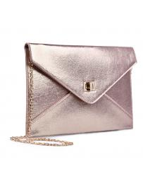 Розова дамска елегантна чанта 0133025