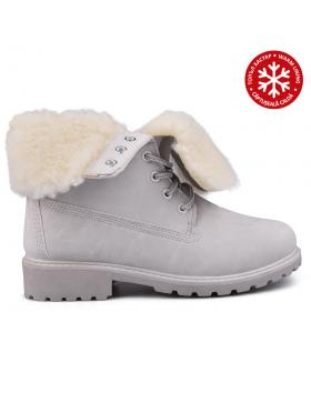 Сиви дамски ежедневни боти с топъл хастар 0131502 в online магазин Fashionzona
