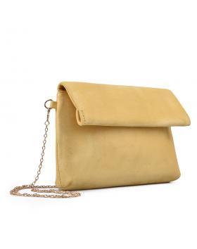 дамска елегантна чанта жълта 0133042 в online магазин Fashionzona