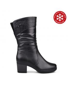 Дамски ежедневни ботуши черни с топъл хастар 0132086 в online магазин Fashionzona