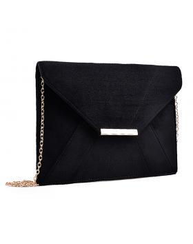 дамска елегантна чанта черна 0133028 в online магазин Fashionzona